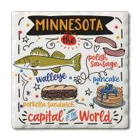 Minnesota Foods Coaster Set of 4