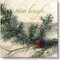 Pine Bough Print - 5 x 5 in.