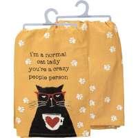 Normal Cat Lady Dish Towel
