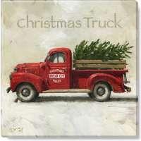 Christmas Truck Print - 5 x 5 in.