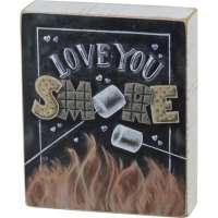Love You Smore Block Sign