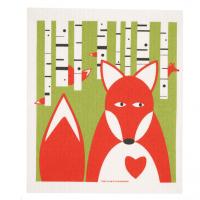 Fox  Swedish Dishcloth