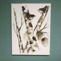 Bird Art Canvas - 12x16