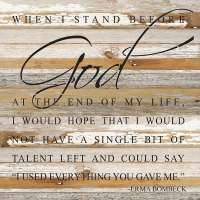 When I Stand Before God 28x28 Wall Sign