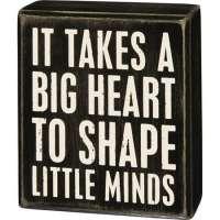 Big Heart Box Sign