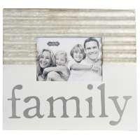 Family Tin & Enamel Frame