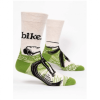 Bike Patch Men's  Crew Socks by Blue Q