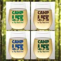 Camp Life S/4 Shatterproof Stemless Wine Glasses
