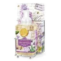 Lilac & Violets Foamer/Napkin Set