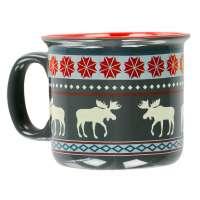 Fair Isle Moose Mug