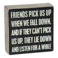 Friends Pick Us Up Box Sign