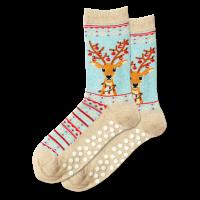 Women's Fuzzy Reindeer Socks