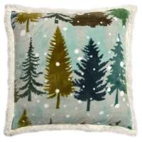 Snowflake Forest Pillow