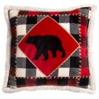 Lumberjack Bear Pillow