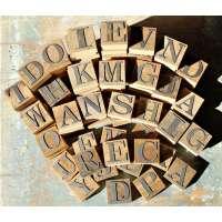 Metal & Wood Rustic Letter R