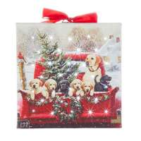 Labs In Truck Print - Lighted Ornament