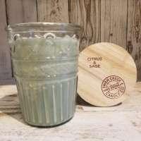 Swan Creek Timeless Citrus and Sage Medium Jar Candle