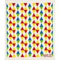 Triangles Primary Bold Swedish Dish Cloth