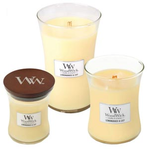 Lemongrass and Lily Scented WoodWick Candle