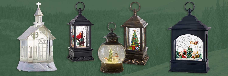 Lighted Holiday Lanterns