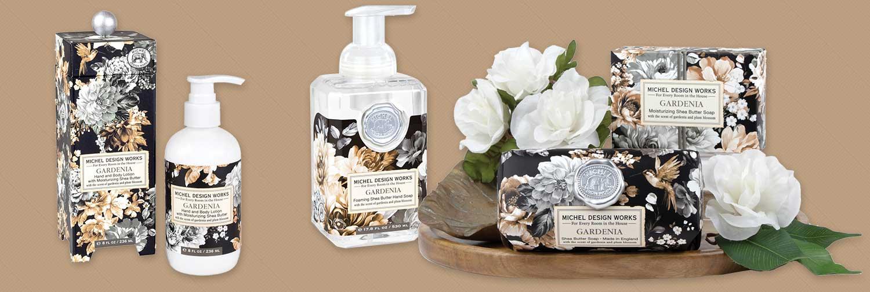 Gardenia bath and body care by Michel Design Works