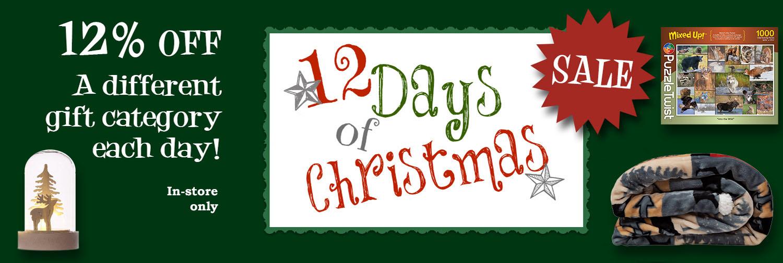 12 Days of Christmas Sale - December 1 - 12, 2020