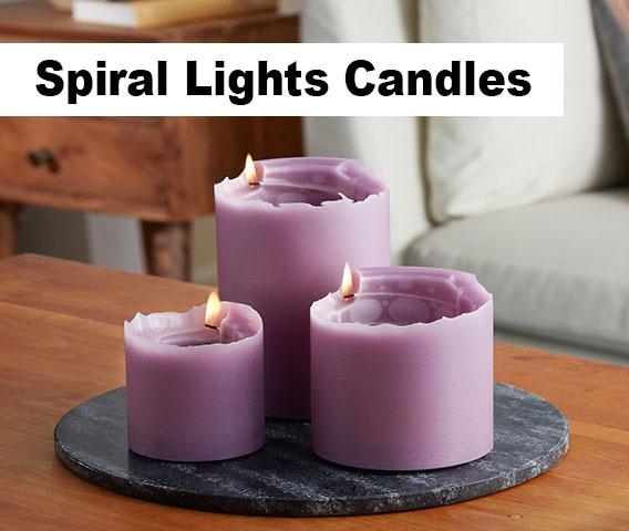 Spiral Lights Candles
