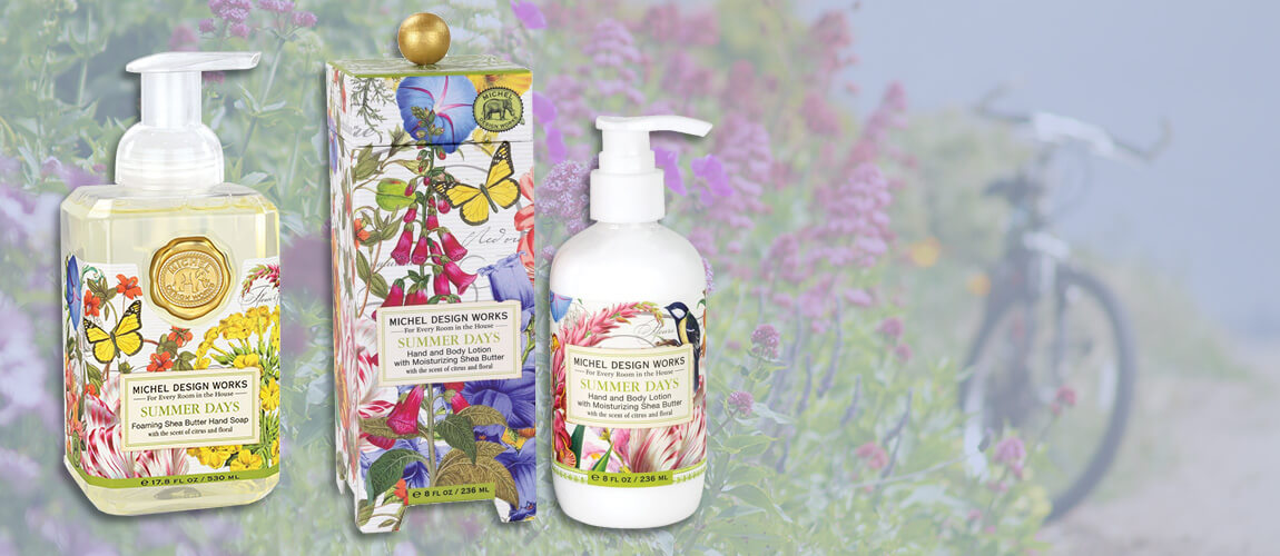 Summer Days Bath and Body Care from Michel Design Works