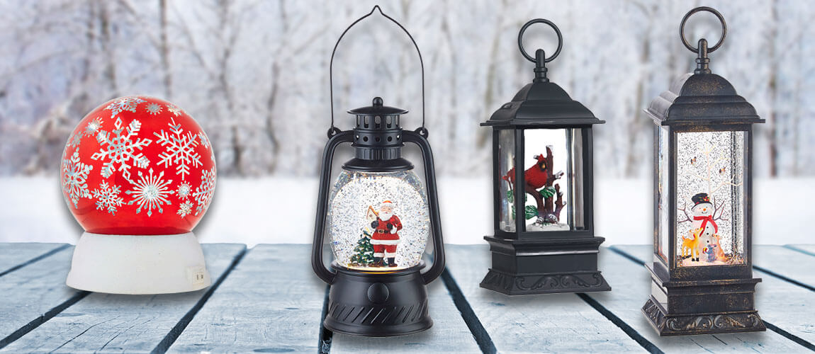 Light Up Your Holidays | Wintry Lanterns | Christmas Snow Globes